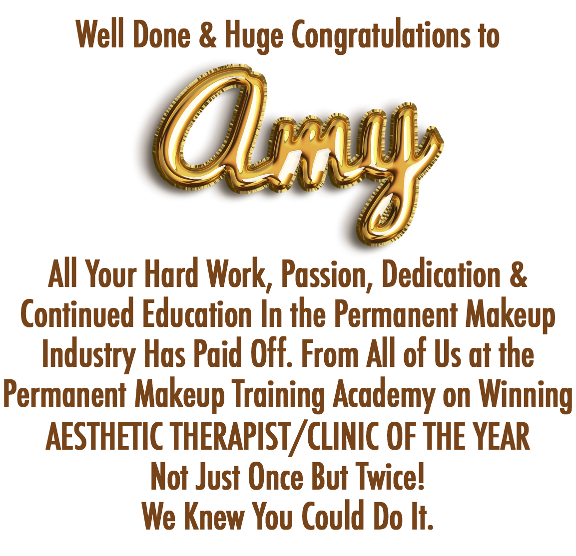 Amy Packer Award Banner