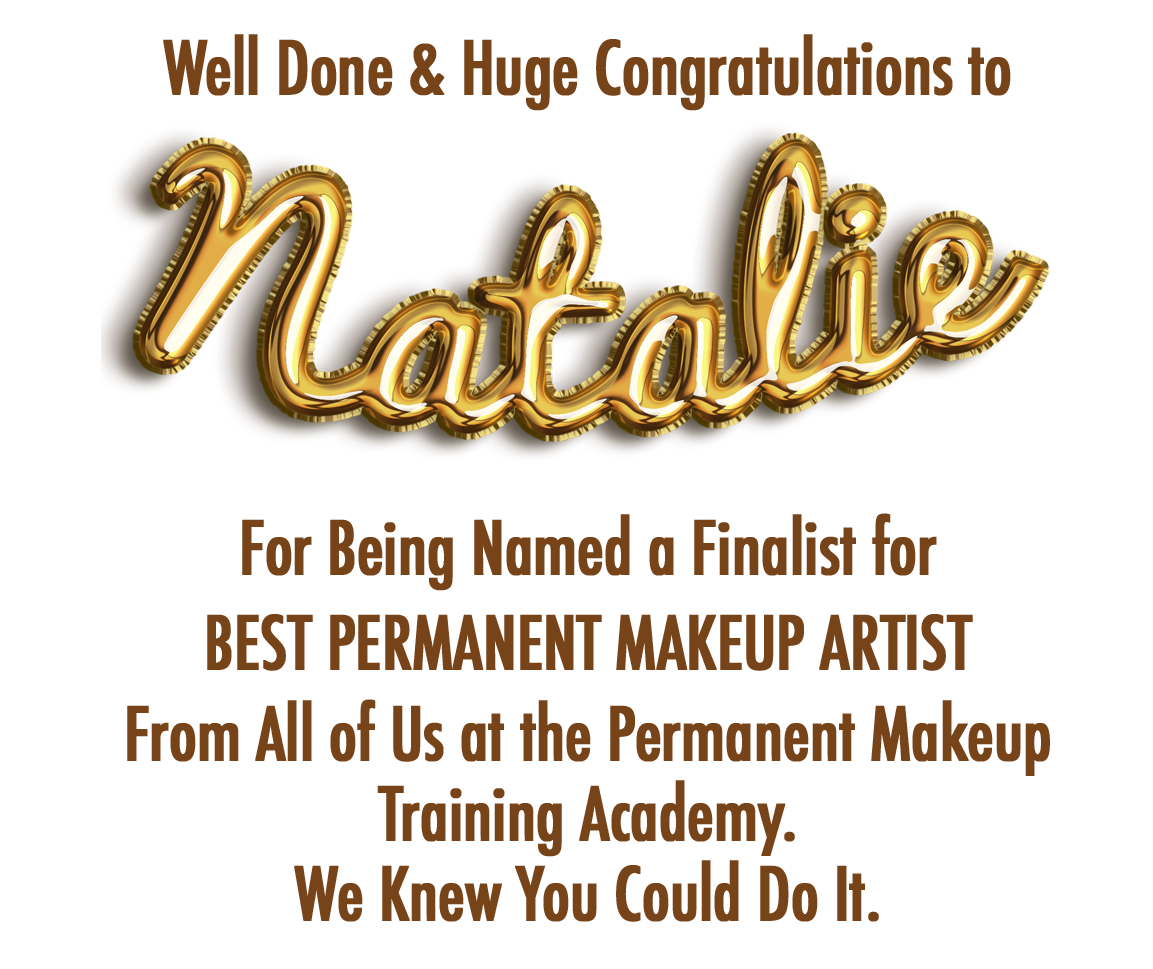 Natalie Award Banner - Your Future Success In Permanent Makeup